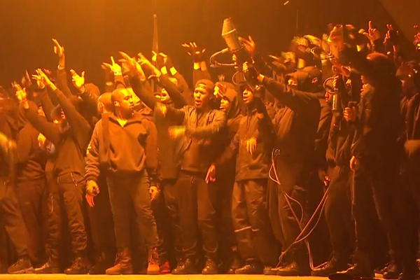 kanye performs All Day at BRIT Awards