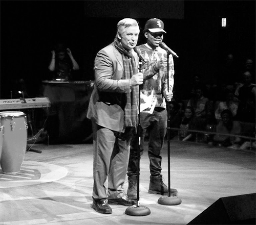 Chance The Rapper and Alec Baldwin